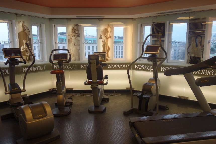 Great exercising at the Bristol Hotel Vienna