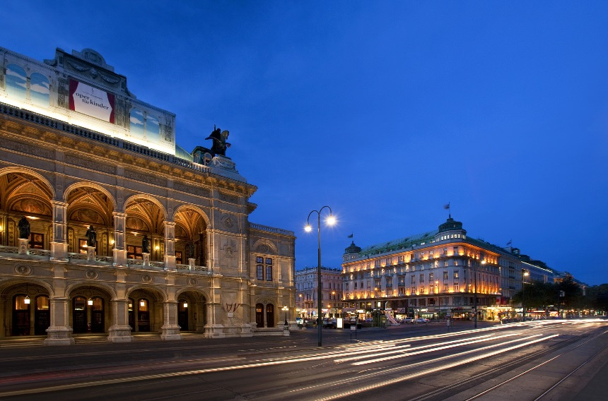 The Bristol Hotel and the Vienna State Opera