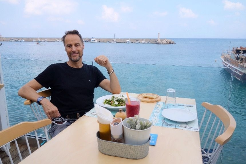 Greek food on the island of Crete