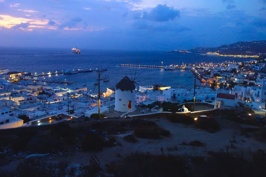 What a view - this is Mykonos!