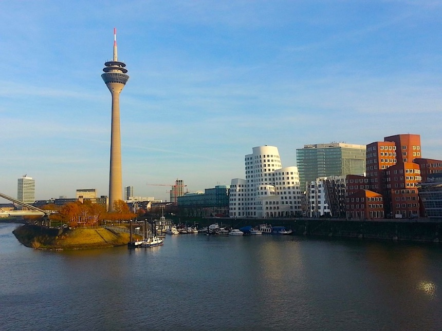 Instagrammable view from the Hyatt Regency Hotel Düsseldorf