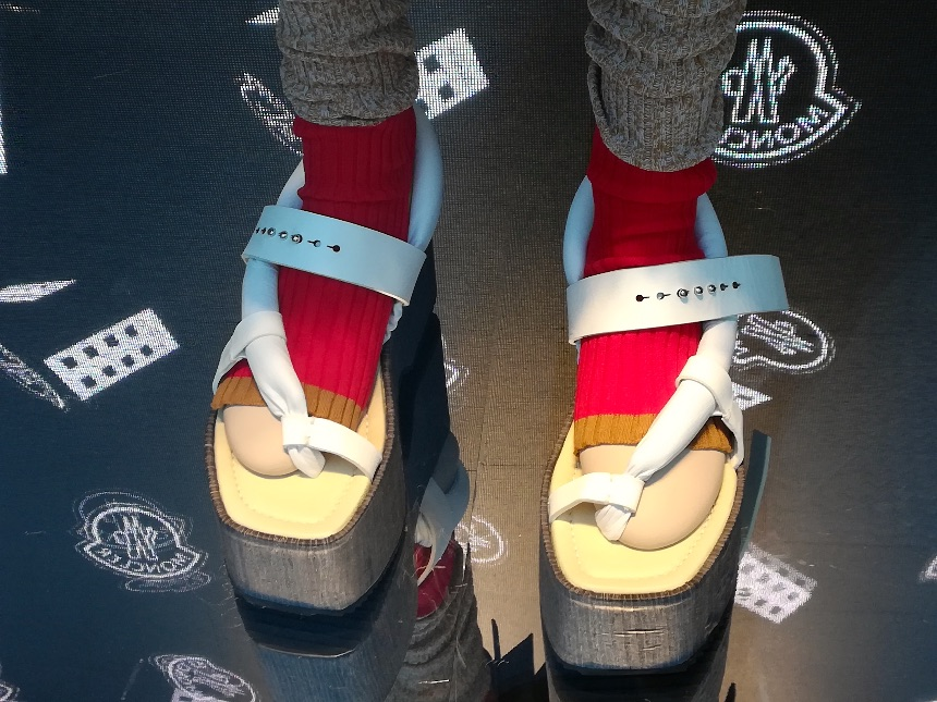 Latest shoe fashion in Milan