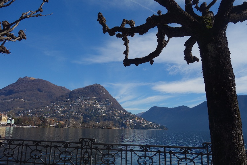 Lake Lugano in Ticino, Switzerland