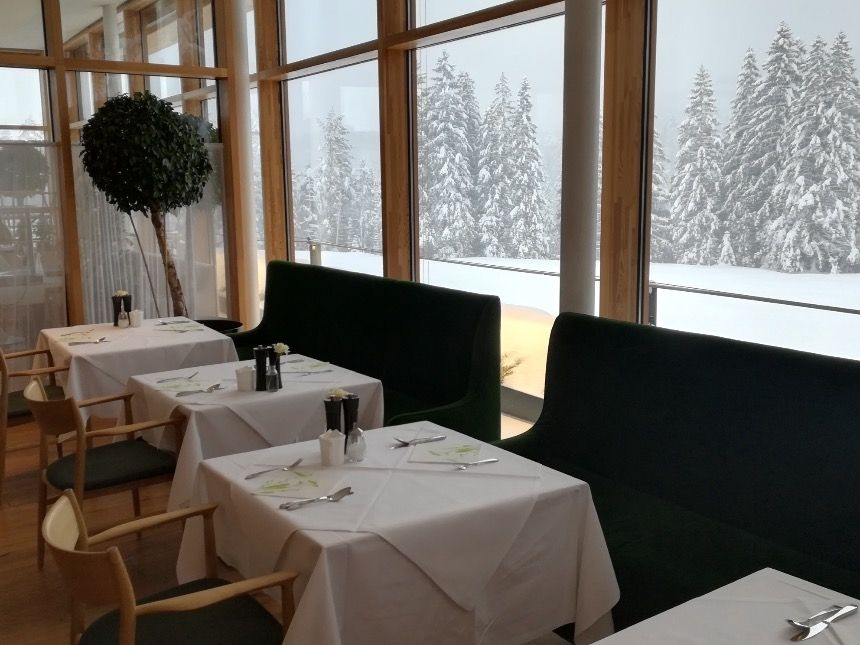 Restaurant at the Kranzbach Hotel